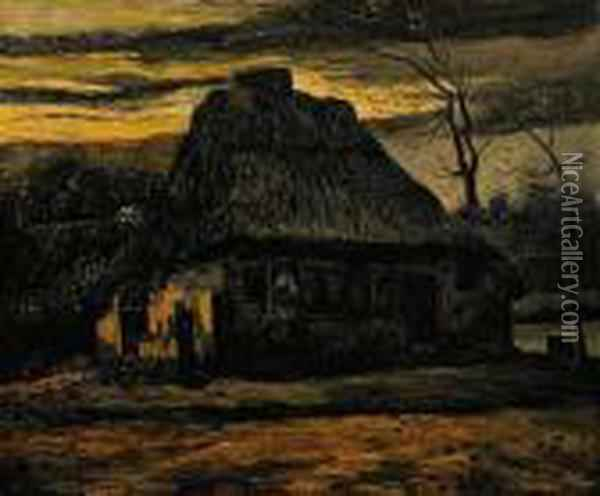 The Cottage Oil Painting - Vincent Van Gogh