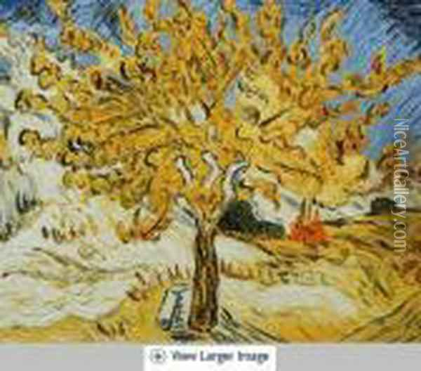 The Mulberry Tree Oil Painting - Vincent Van Gogh