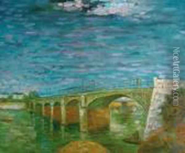 The Seine Bridge At Asnieres Oil Painting - Vincent Van Gogh