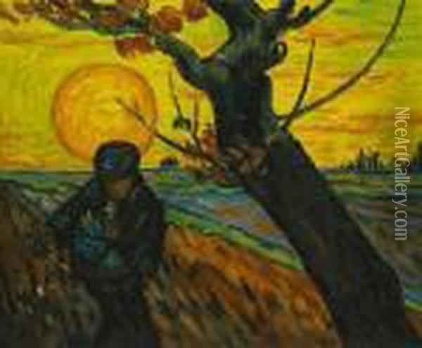 The Sower Oil Painting - Vincent Van Gogh