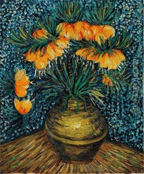 Chestnut Branches Oil Painting - Vincent Van Gogh