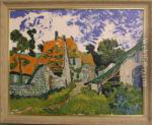 Dorfstrase In Auvers-sur-dise Oil Painting - Vincent Van Gogh
