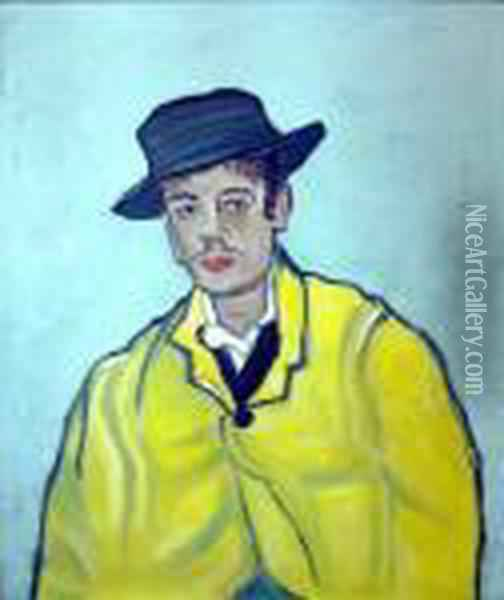 Portrait Of Armand Roulin - The Yellow Jacket Oil Painting - Vincent Van Gogh