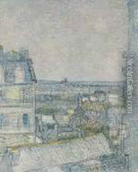 View From Vincent's Window Oil Painting - Vincent Van Gogh