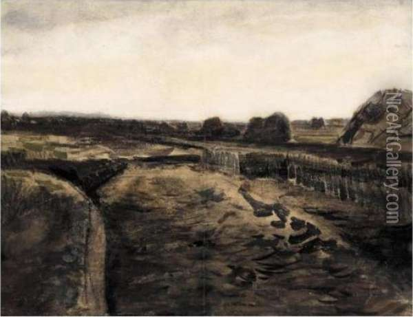 Peatery In Drenthe Oil Painting - Vincent Van Gogh