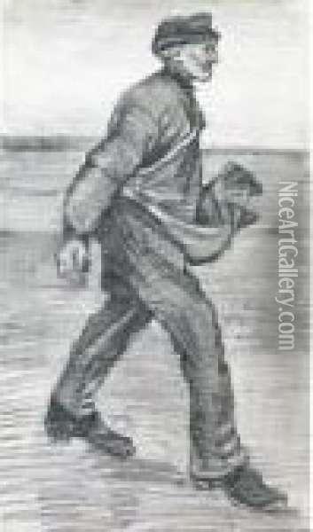 The Sower: Facing Right Oil Painting - Vincent Van Gogh