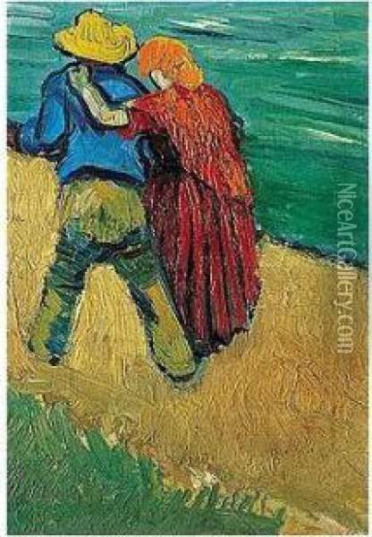 Eglogue En Provence - Un Couple D'amoureux Oil Painting - Vincent Van Gogh