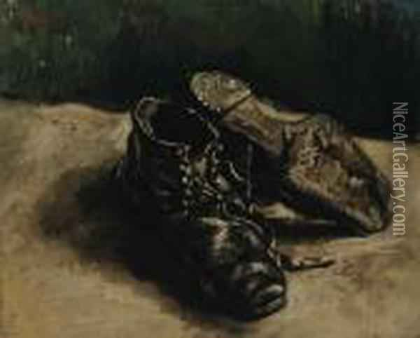 A Pair Of Shoes Oil Painting - Vincent Van Gogh
