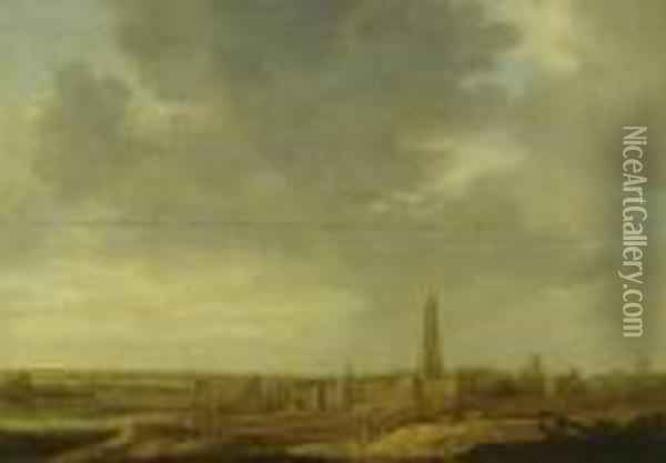 View Of Rhenen Oil Painting - Jan van Goyen