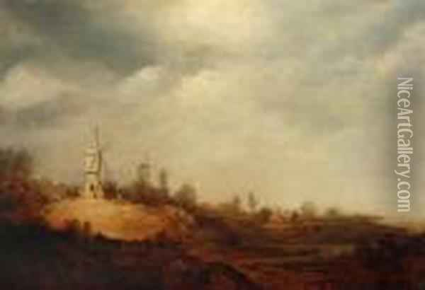 Dutch Landscape Oil Painting - Jan van Goyen