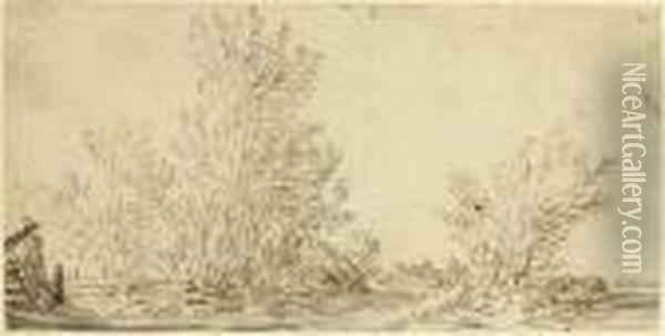 A Landscape With Trees Oil Painting - Jan van Goyen