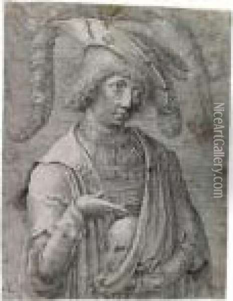 Young Man With A Skull Oil Painting - Lucas Van Leyden