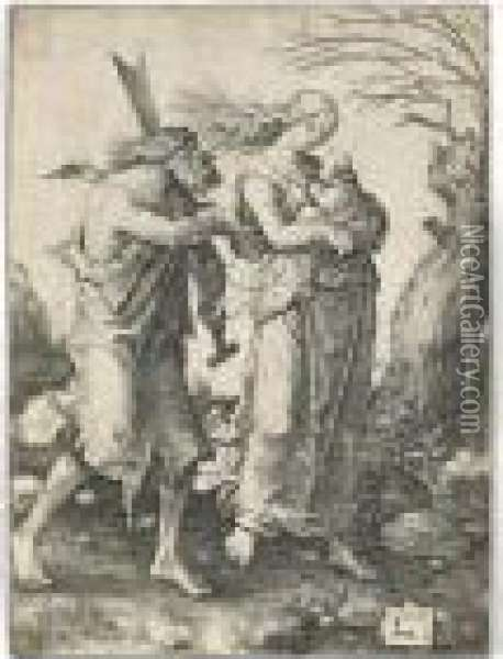 The Expulsion From Paradise Oil Painting - Lucas Van Leyden