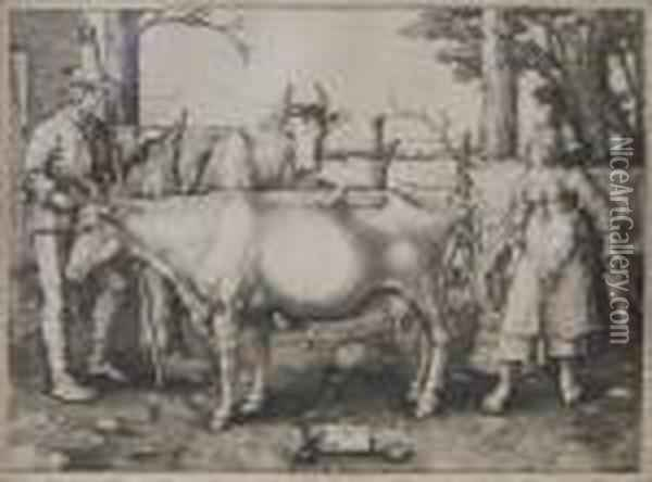 The Milkmaid Oil Painting - Lucas Van Leyden