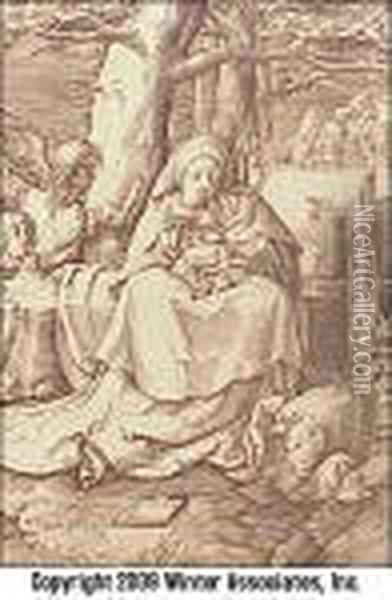 Madonna And Child Oil Painting - Lucas Van Leyden