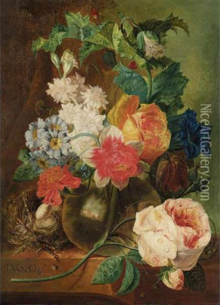 A Still Life With Roses And 