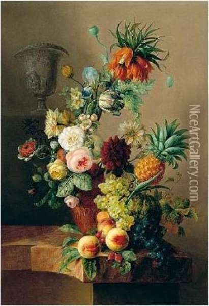 A Still Life Of Various Flowers 