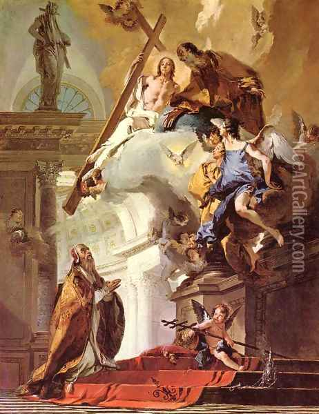Vision of St. Clemens Oil Painting - Giovanni Battista Tiepolo