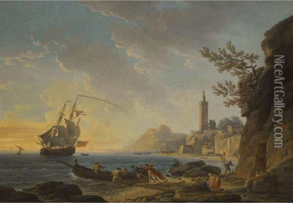A Coastal Scene With A 
