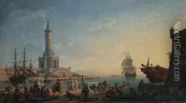 A Mediterranean Harbour At 