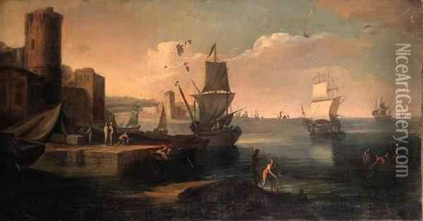 A Mediterranean Harbour With 