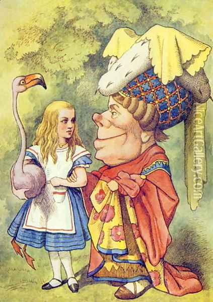 Alice with the Duchess, illustration from Alice in Wonderland by Lewis Carroll 1832-9 Oil Painting - John Tenniel