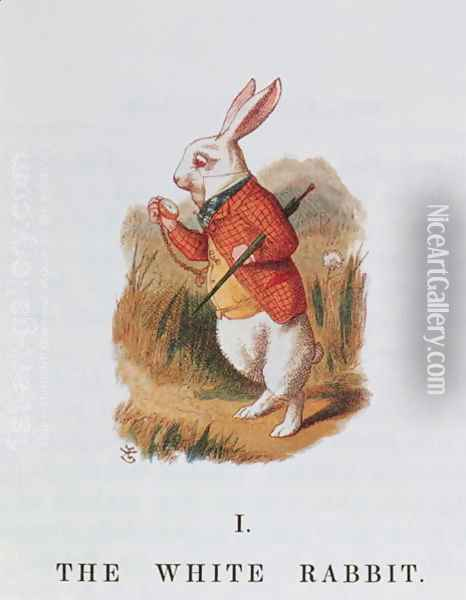 The White Rabbit, illustration from Alice in Wonderland by Lewis Carroll 1832-98 adapted by Emily Gertrude Thomson d.1932 1889 Oil Painting - John Tenniel