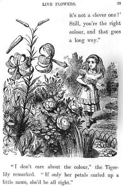 Tiger Lily, from Through the Looking Glass by Lewis Carroll 1832-98 Oil Painting - John Tenniel