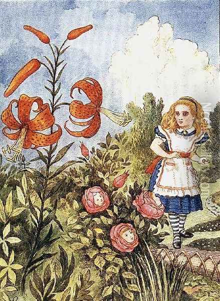 Tiger Lily, from Through the Looking Glass by Lewis Carroll 1832-98 2 Oil Painting - John Tenniel