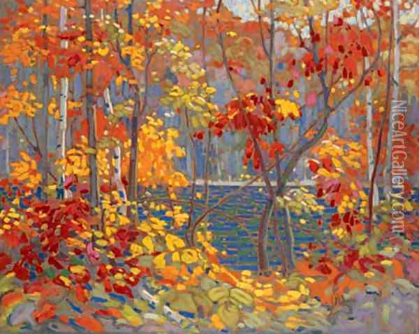 The Pool Oil Painting - Tom Thomson