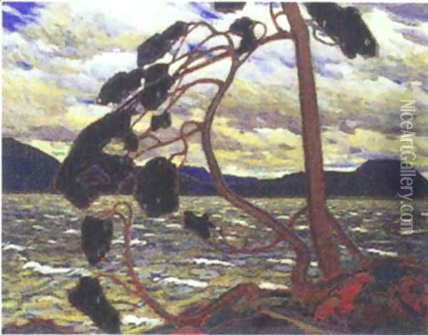 The West Wind Oil Painting - Tom Thomson