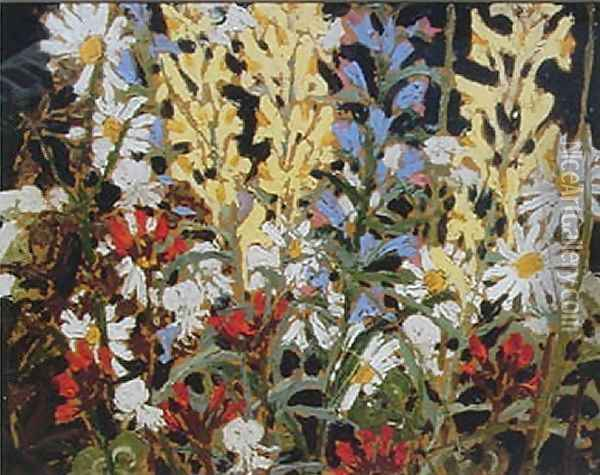 Wildflowers Oil Painting - Tom Thomson