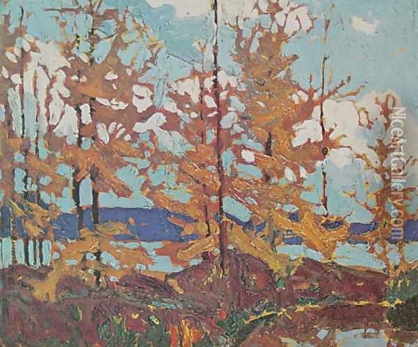 Tamaracks Oil Painting - Tom Thomson