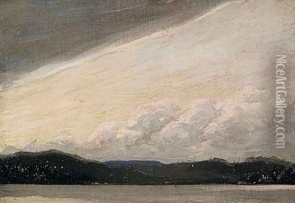 Lake, Shore and Sky Oil Painting - Tom Thomson