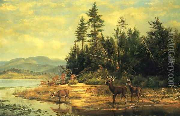 View on Long Lake Oil Painting - Arthur Fitzwilliam Tait