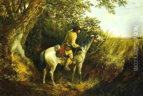 Trapper Looking Out Oil Painting - Arthur Fitzwilliam Tait
