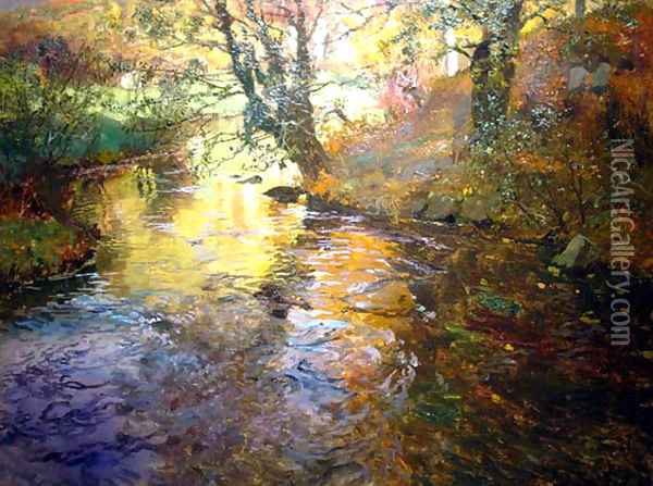 At Quimperle Oil Painting - Fritz Thaulow