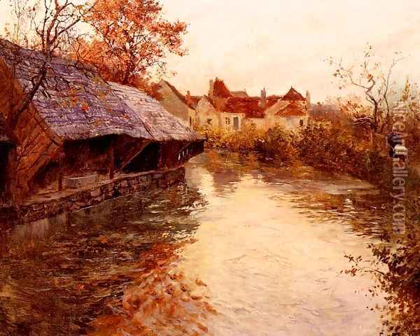 A Morning River Scene Oil Painting - Fritz Thaulow