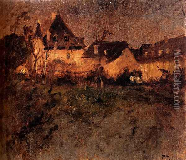 Fra Beaulieu Oil Painting - Fritz Thaulow