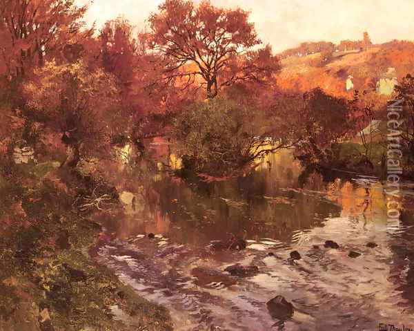 Golden Autumn, Brittany Oil Painting - Fritz Thaulow
