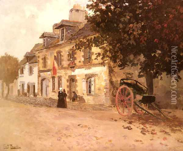 A Village Street In France Oil Painting - Fritz Thaulow