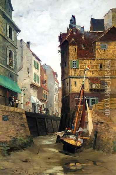 From Le Havre, Low Water (Fra Le Havre, lavvann) Oil Painting - Fritz Thaulow