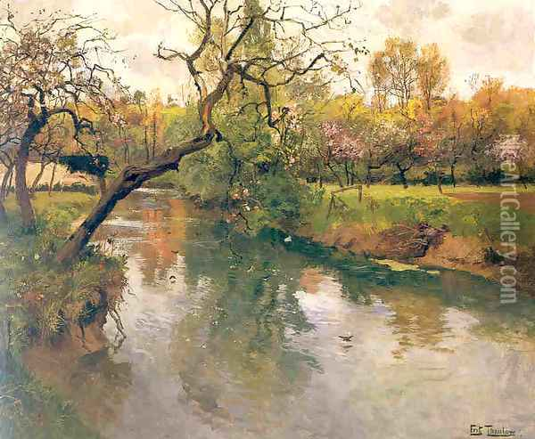 flowtree Oil Painting - Fritz Thaulow