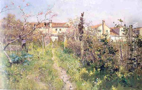 North Italy Oil Painting - Fritz Thaulow