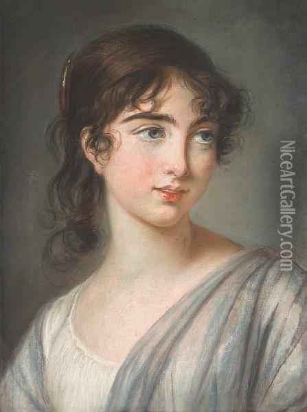 A Portrait Of Corisande De Gramont, Countess Of Tankerville Oil Painting - Elisabeth Vigee-Lebrun
