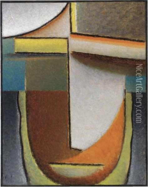 Abstrakter Kopf: Greco Erlebnis (abstract Head: Greco Experience) Oil Painting - Alexei Jawlensky