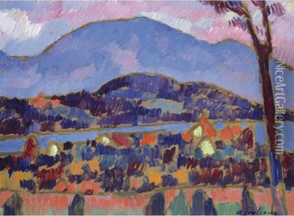 Property From The Former Collection Of Clotilde And Alexander Sacharoff              Murnau Oil Painting - Alexei Jawlensky