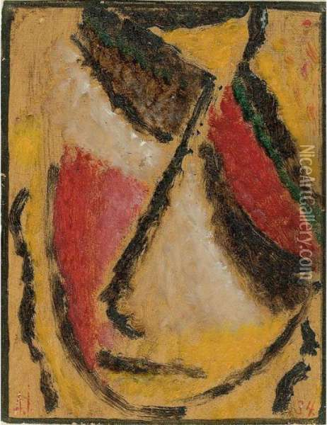 Meditation Oil Painting - Alexei Jawlensky