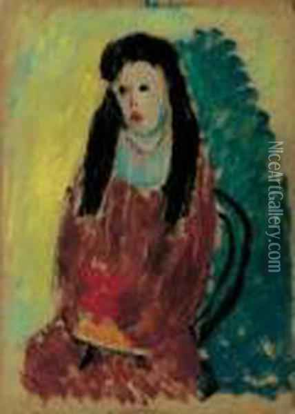 Junges Madchen Oil Painting - Alexei Jawlensky