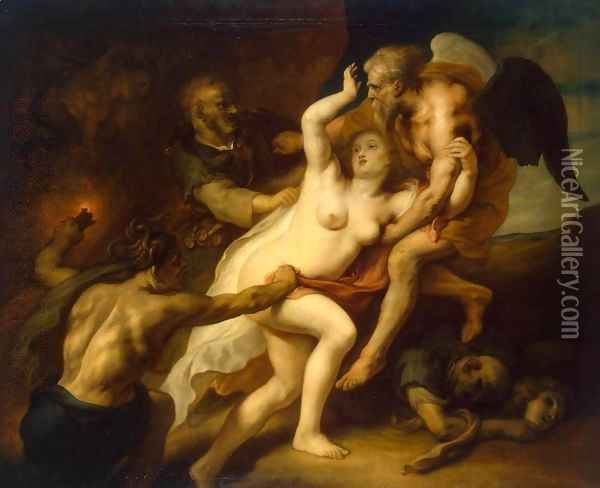 Time Reveals the Truth Oil Painting - Theodor Van Thulden